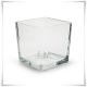 Wazon szklany kwadratowy 14x14 cm / grube szkło - 3