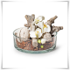 Miska, salaterka cylindryczna H-8 cm D-25 cm / grube szkło - 3