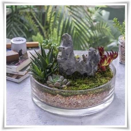 Miska, salaterka cylindryczna H-8 cm D-19 cm / grube szkło - 1