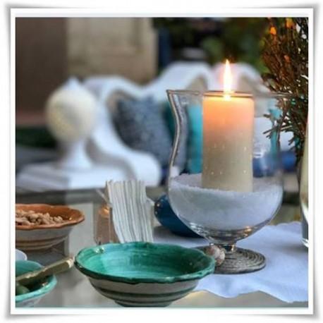 Kielich szklany, wazon na nóżce z eko-szkła, świecznik 20 cm - 1
