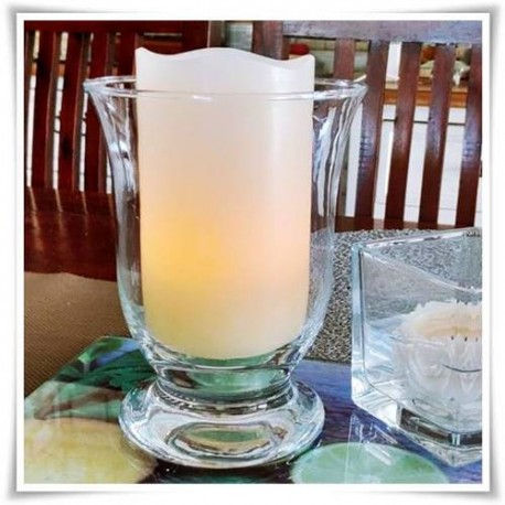 Świecznik szklany, lampion Mitras H-15,5 cm D-12 cm - 1