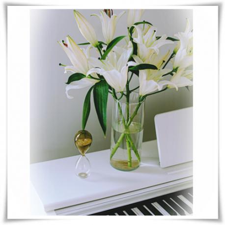 Tuba szklana, wazon cylindryczny H-30 cm D-9 cm / szkło ekologiczne - 1