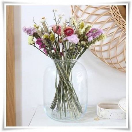 Szklany słój ozdobny, candy bar na stół weselny, słoik lampion 22cm - 1